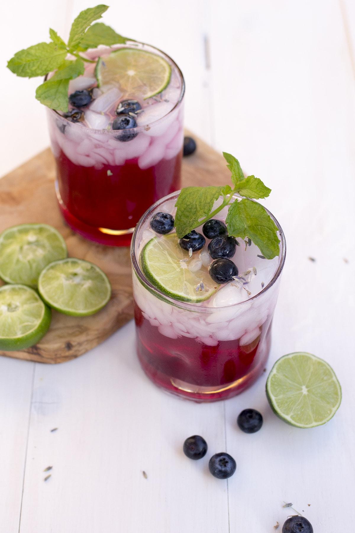 Lavender Blueberry Fizz