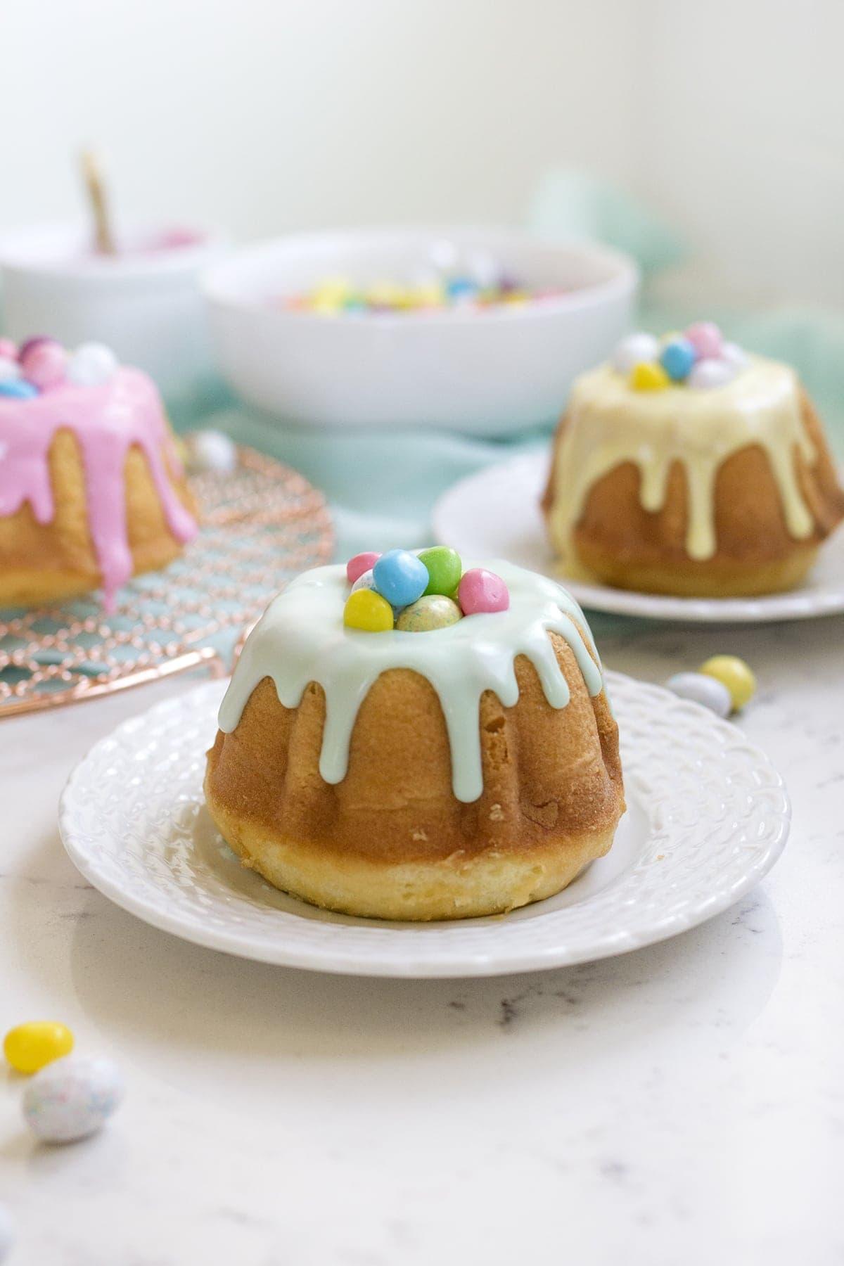 Surprise Inside Mini Easter Bundt Cakes