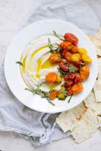 Ricotta White Bean Dip with Roasted Tomatoes