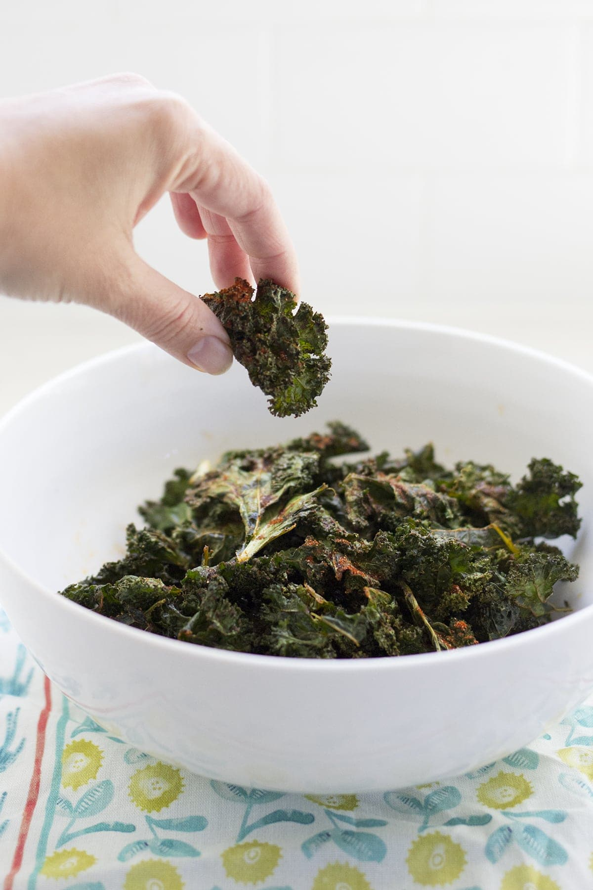 Crispy Barbecue Kale Chips
