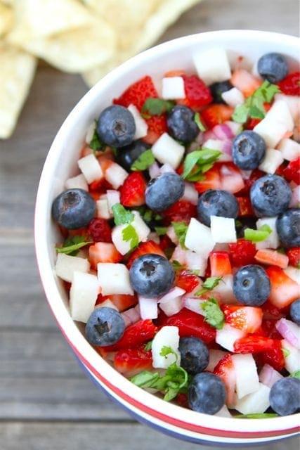 Blueberry Strawberry Jicima Salad