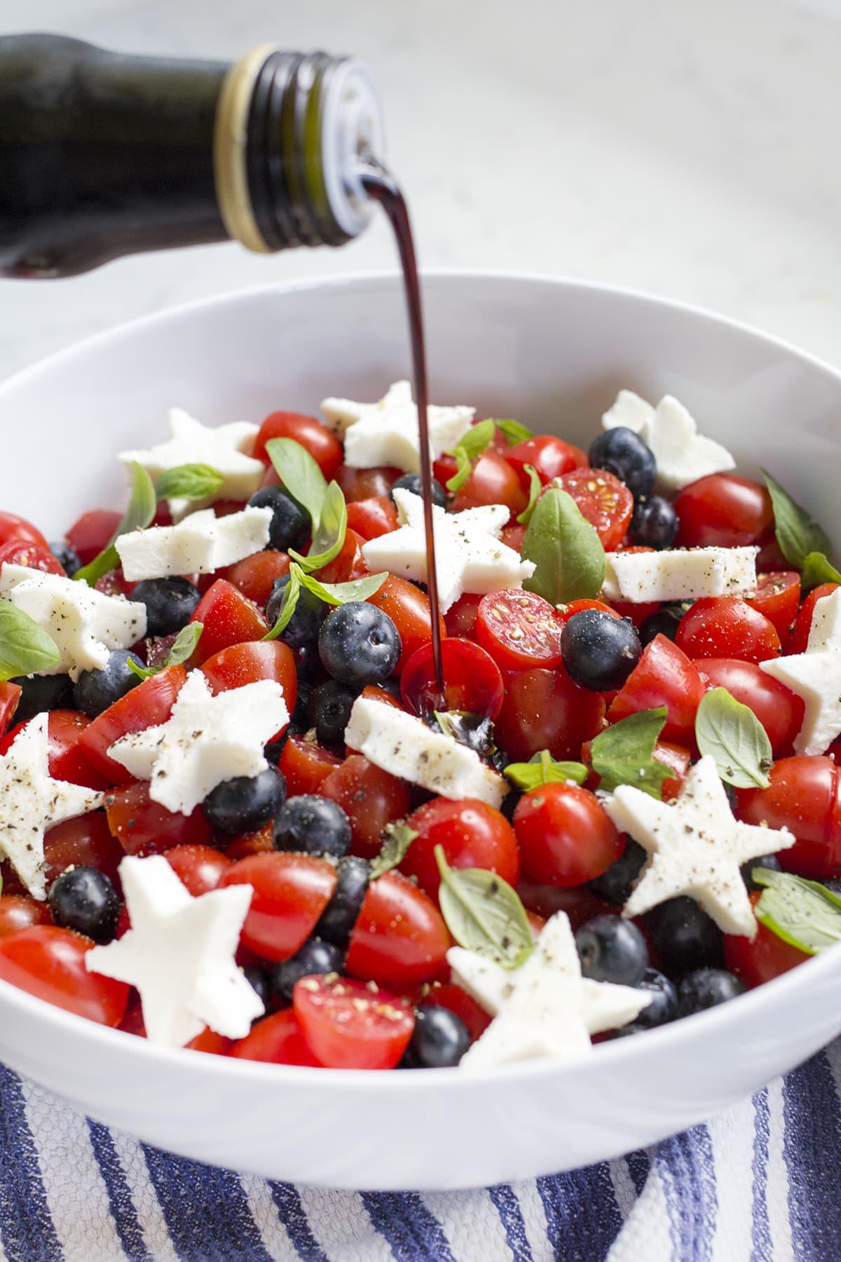 Blueberry Tomato Caprese