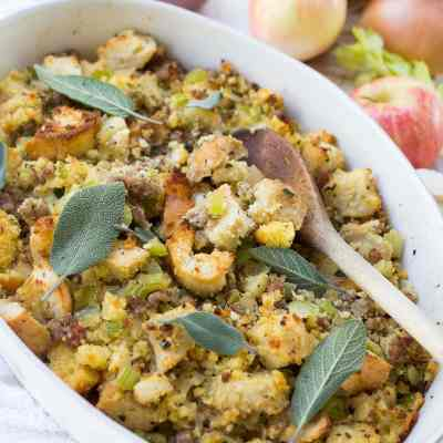 Stuffing with Sausage, Apples & Sage