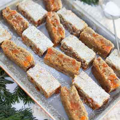 Grandma Elaine's Orange Gumdrop Bars