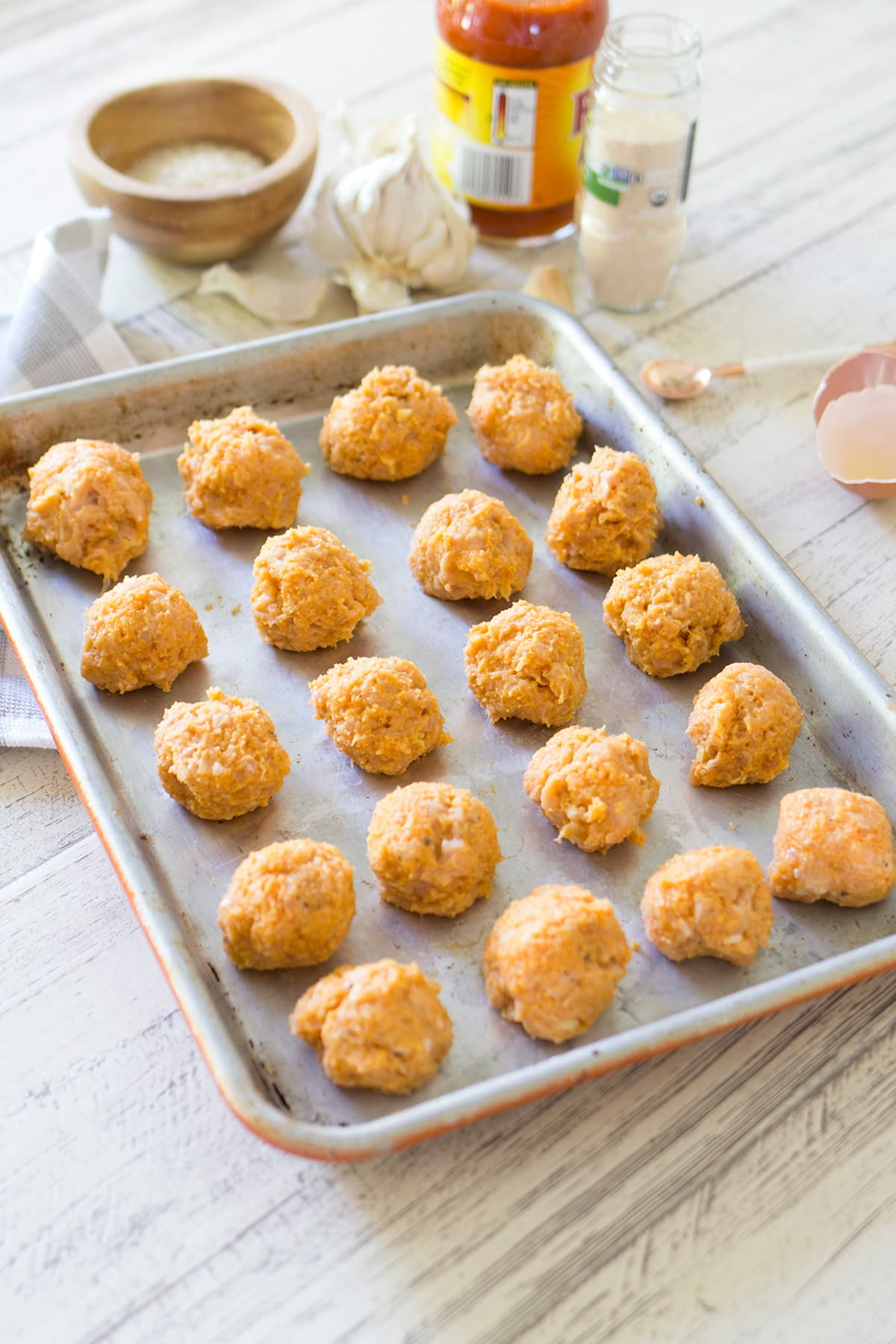 Game Day Buffalo Chicken Meatballs with Blue Cheese