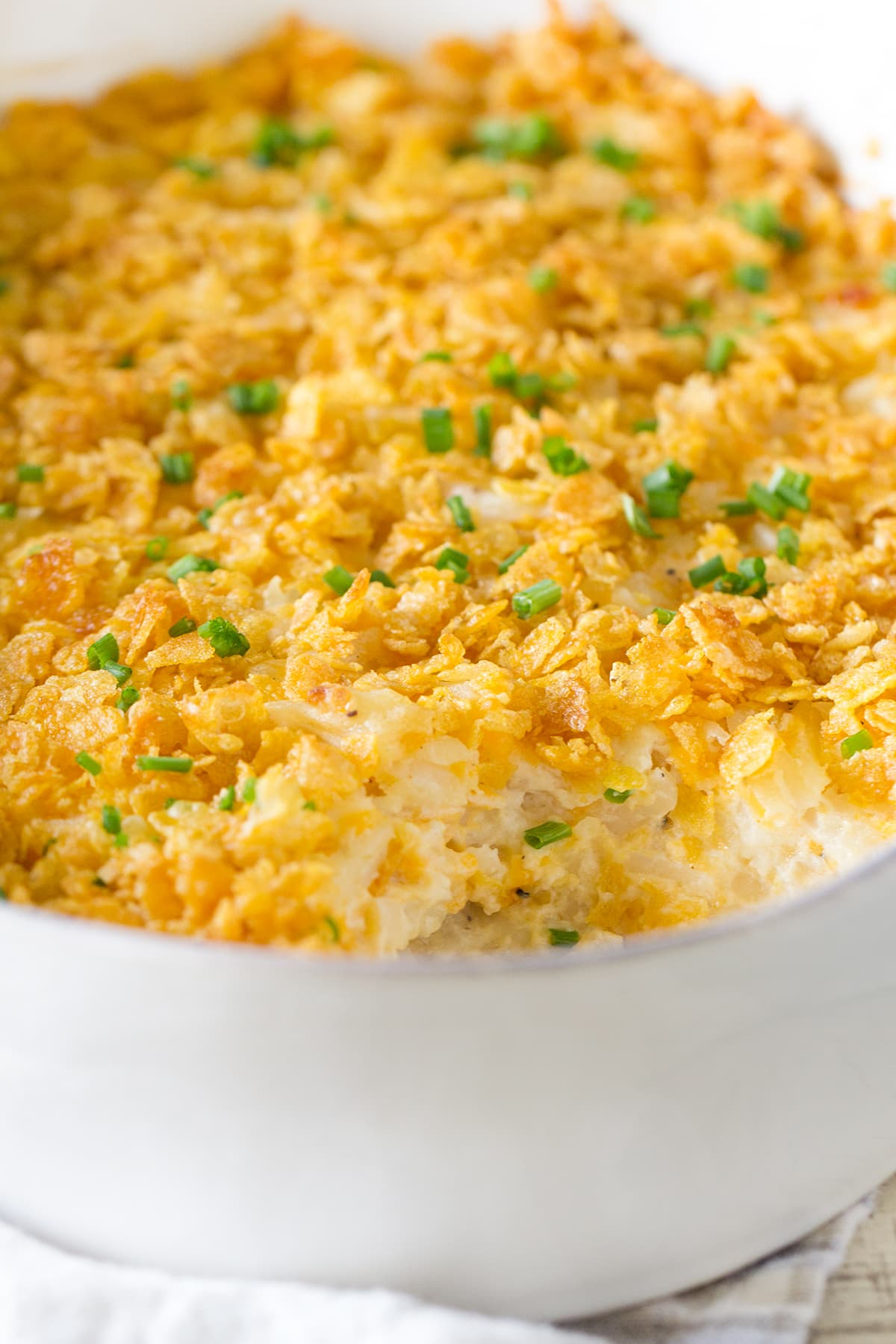 A homemade family recipe for Grandmas Cheesy Hashbrown Casserole made without any creamed soup in a can! Plus the easy recipe for cream of chicken soup substitute. This side dish is perfect for Easter.