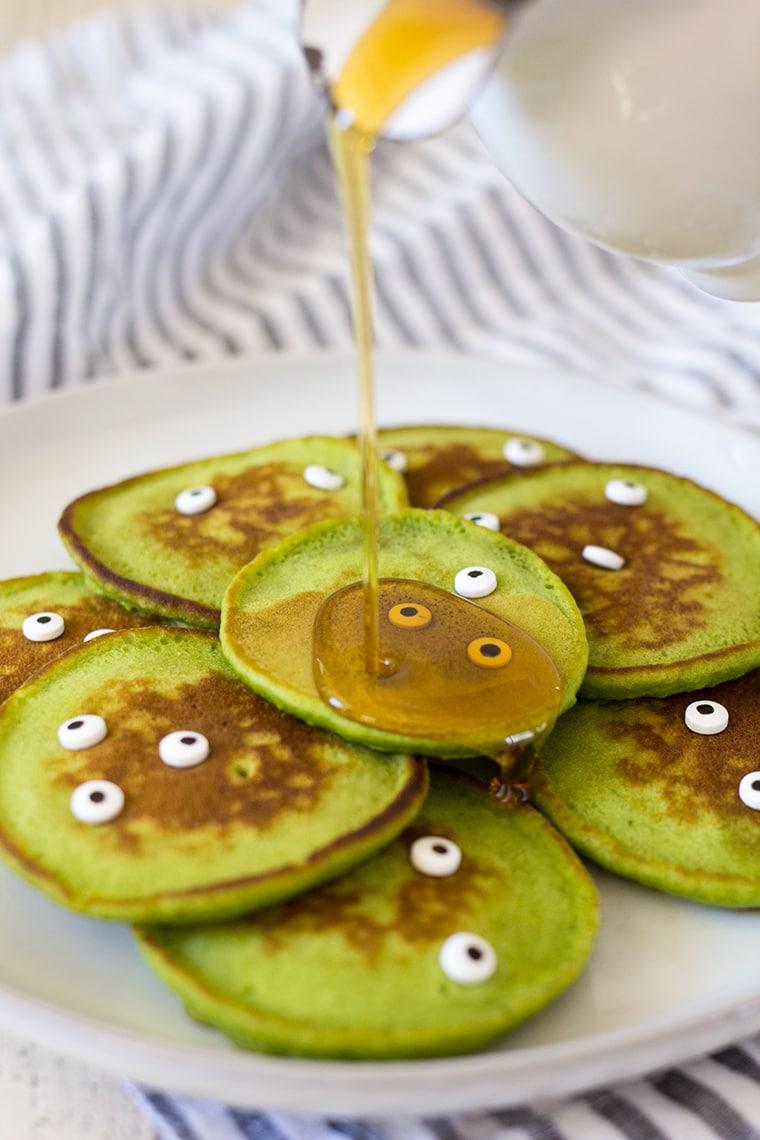 Healthy Halloween Monster Pancakes For Kids Freutcake