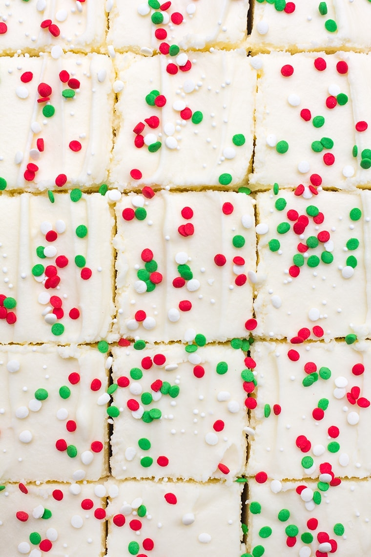 Christmas Sugar Cookie Bars with Cream Cheese Frosting