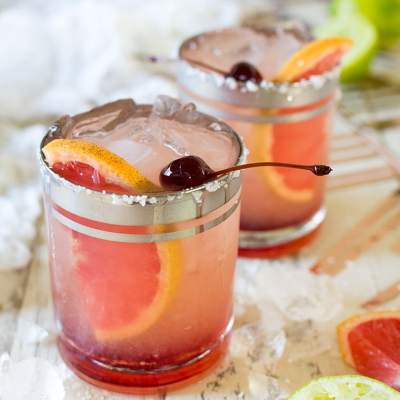 Elderflower Grapefruit Margaritas