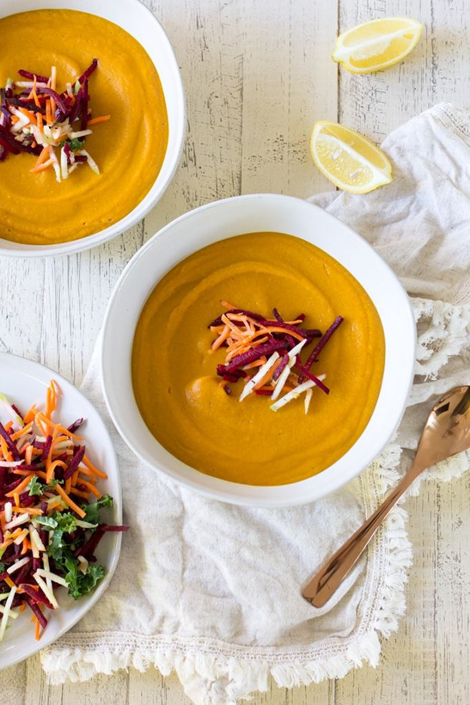 Red Lentil Ginger Carrot Soup is a healthy and satisfying way to slim down and still feel content.
