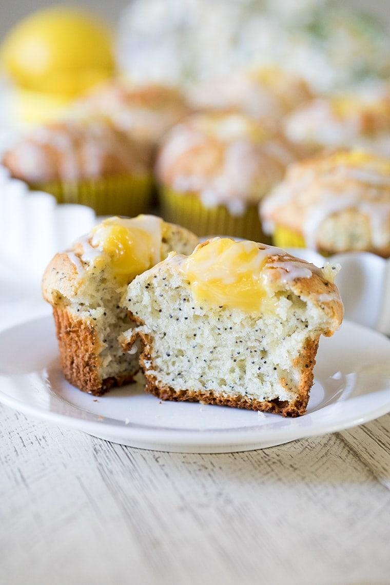 Lemon Poppy Seed Muffins with Lemon Curd Filling