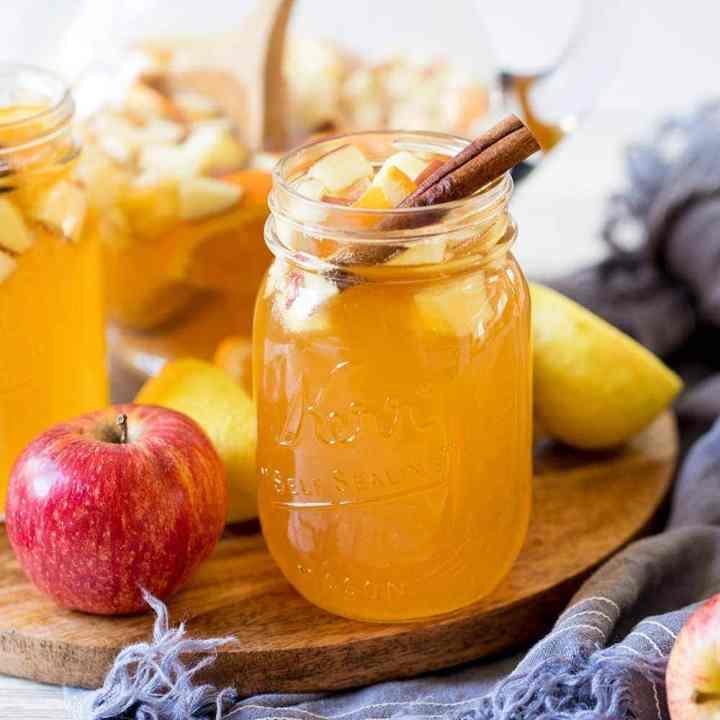 Sparkling Fall Hard Apple Cider Sangria