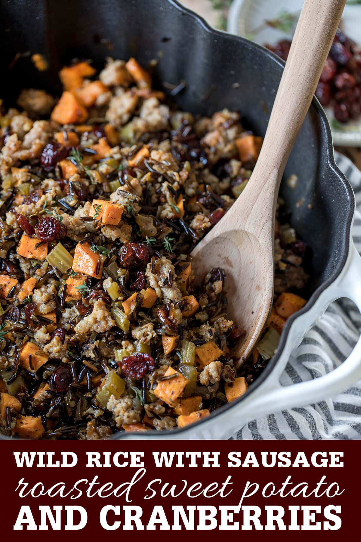 Wild Rice with Sausage, Sweet Potato and Cranberries ...