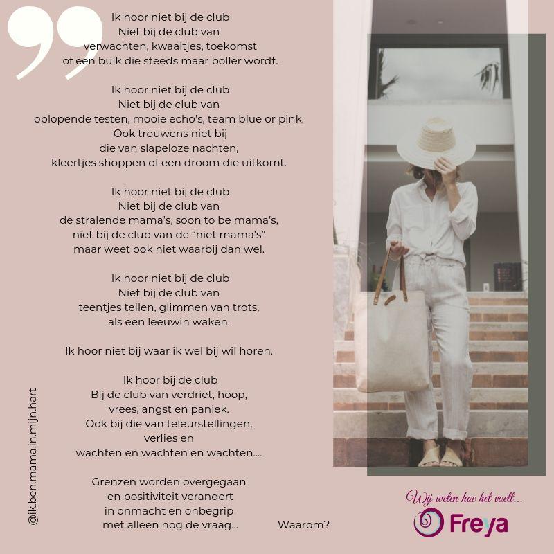 Gedicht Ik Hoor Niet Bij De Club Freya