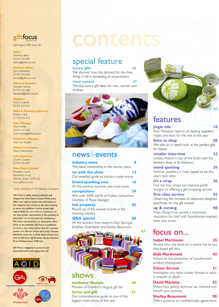 My contents page and editor's letter page designs | Holly ...Food Magazine Table Of Contents