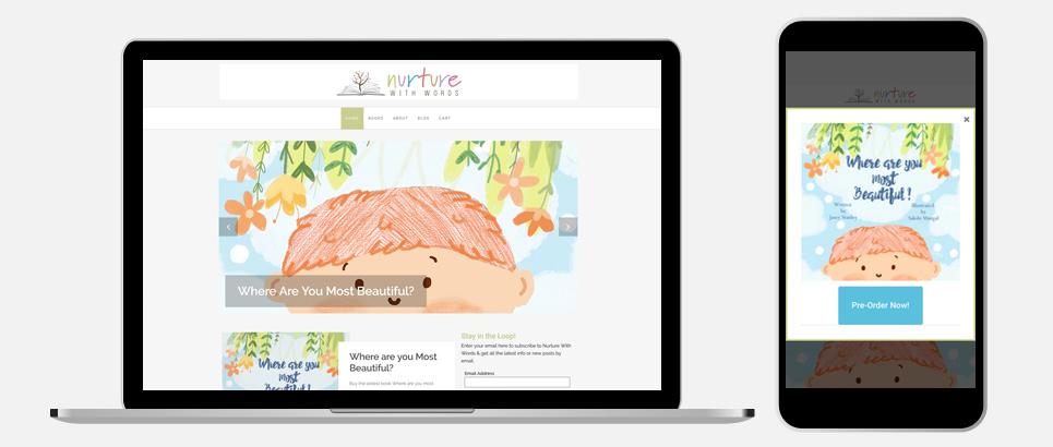 Nurture With Words Responsive Web Design