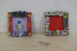 DIY_Bilderrahmen_Kunst_Papier_Zeitschriften_Recycling_basteln_Kinder_FRICKELclub_Offenbach_externe AG_Erasmus (19)