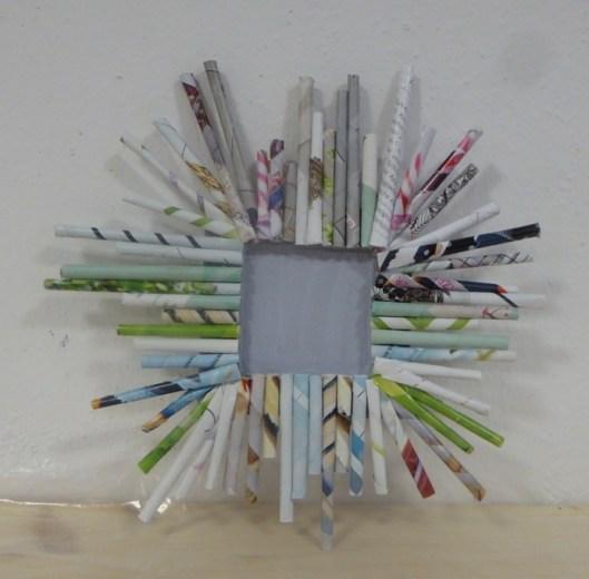 DIY_Bilderrahmen_Kunst_Papier_Zeitschriften_Recycling_basteln_Kinder_FRICKELclub_Offenbach_externe AG_Erasmus
