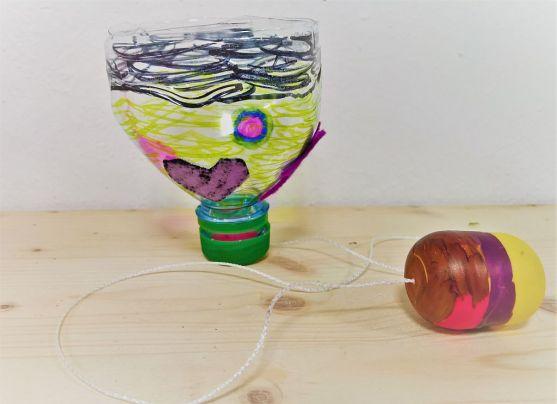 Upcycling_DIY_PET Flaschen_Geschicklichkeitsspiel_Kinder_FRICKELclub (14)