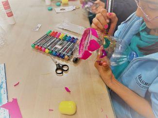 Upcycling_DIY_PET Flaschen_Geschicklichkeitsspiel_Kinder_FRICKELclub (5)