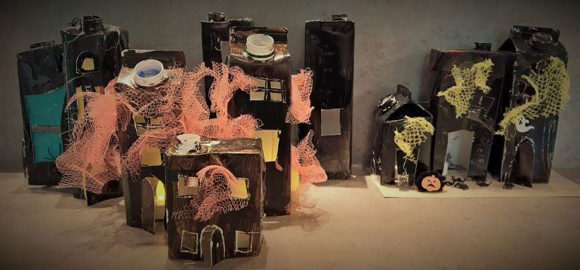 FRICKELclub_Halloween_Recycling_Basteln_Kinder_Tetra Pak_Geisterstadt_Windlicht (8)