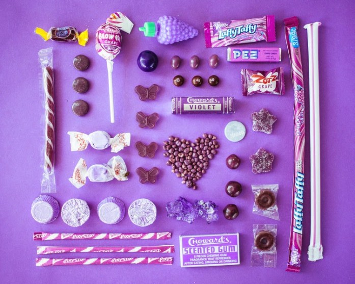 emily blincoe photo of purple candy
