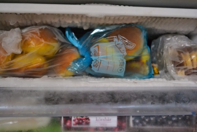 buns in the freezer