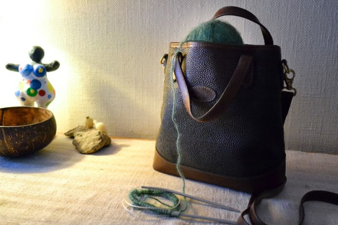 mulberry bag and yarn
