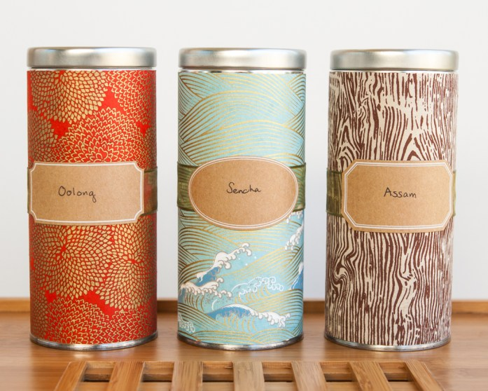 DIY Japanese tea tin washi paper
