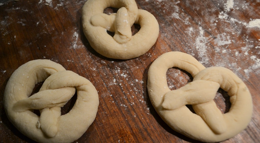 table of pretzels