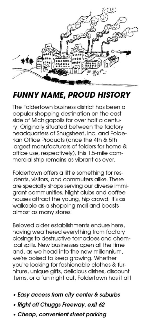 Foldertown Shopper's Guide, page 2