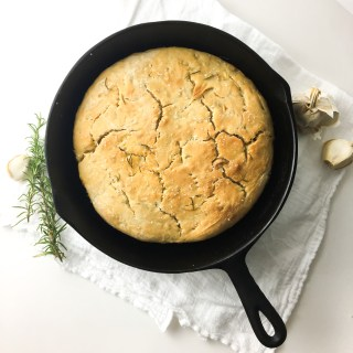 Rosemary Cast Iron Foccacia - Fridge to Fork