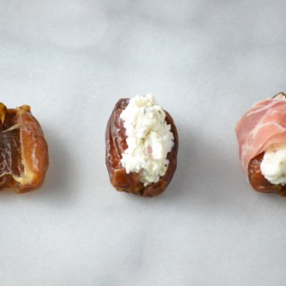 Prosciutto Wrapped Dates with Goat Cheese - Fridge to Fork