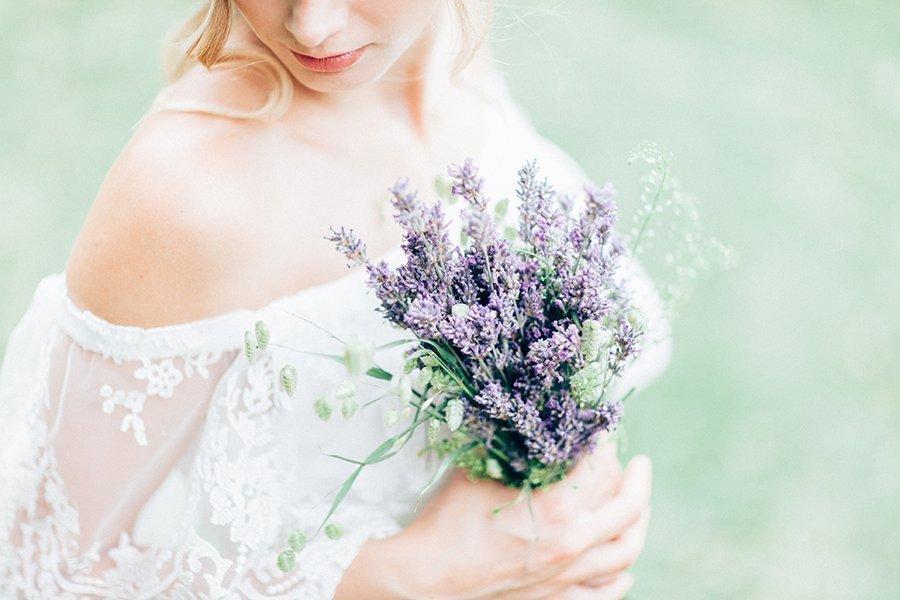 Einladungskarte Hochzeit Lavender Violett Mit Watercolor Ranken