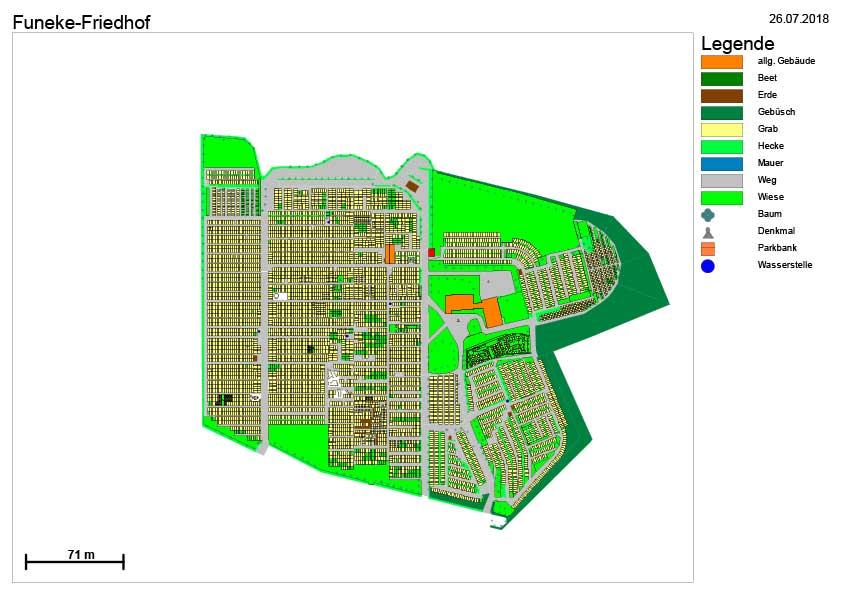 Lageplan Funeke-Friedhof