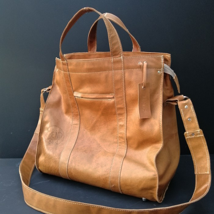leren big shopper camel