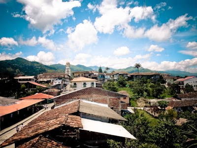 Village in the Colombian coffee triangle