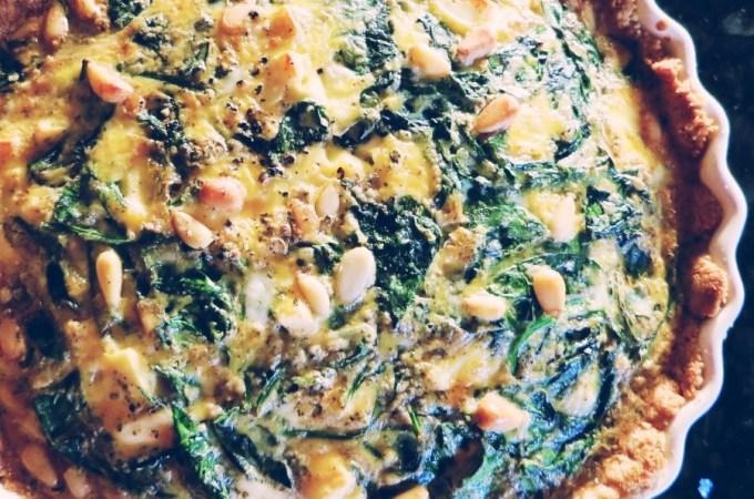 spinach and feta quiche