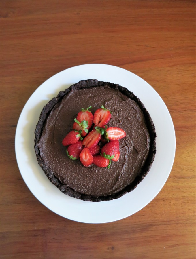 Chocolate Cashew Cream Tart