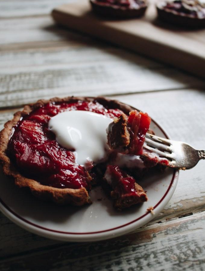 Gluten Free Rhubarb Tartlets