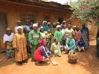 Bev with the Yabi Mbot Farmers Group in Cameroon