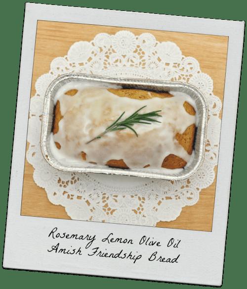 Rosemary Lemon Olive Oil Amish Friendship Bread ♥ friendshipbreadkitchen.com