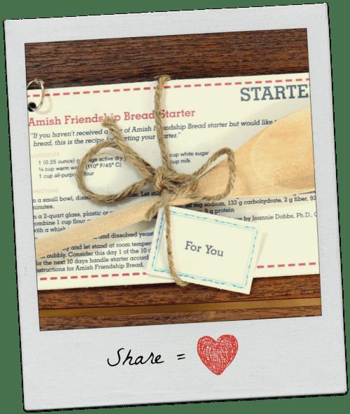 Share Equals Love ♥ friendshipbreadkitchen.com