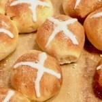 Amish Friendship Bread Hot Cross Buns