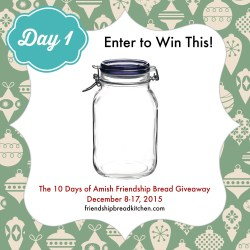 Day 1 of the 10 Days of Amish Friendship Bread Giveaway – Make Your Starter