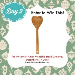 Day 2 of the 10 Days of Amish Friendship Bread Giveaway – Mix or Mash