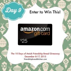 Day 9 of the 10 Days of Amish Friendship Bread Giveaway – Mix or Mash