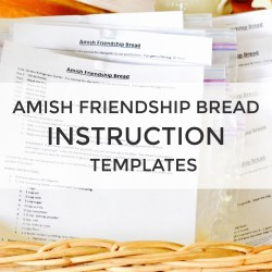 Amish Friendship Bread Instruction Printables | friendshipbreadkitchen.com