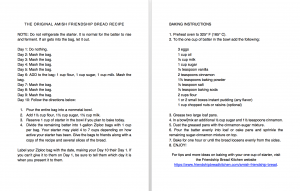 Clean and Simple Amish Friendship Bread Instructions Large Print   friendshipbreadkitchen.com