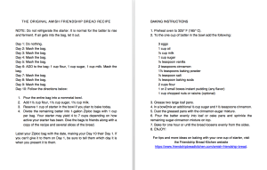 Clean and Simple Amish Friendship Bread Instructions Large Print | friendshipbreadkitchen.com